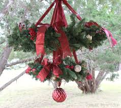 Of Wreaths Christmas Wreath Chandelier Domestic Imperfection