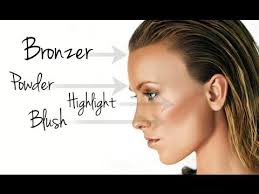 the basics powder bronzer highlighter blush makeup tutorial