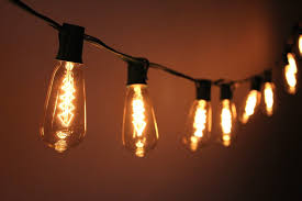 old fashioned edison bulb string lights