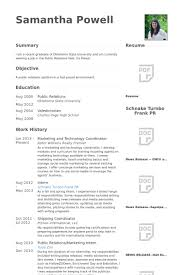 Marketing And Technology Coordinator Resume samples