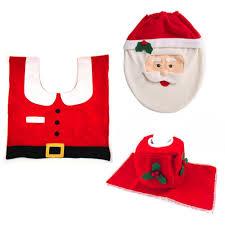 whole fancy happy santa toilet seat cover rug bathroom set decoration rug natal navidad decoration house decoration house
