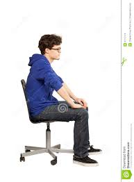 student sitting in chair.  Sitting Student Sitting On Chair Relaxed Inside Sitting In Chair Dreamstimecom