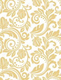 Gold Damask Background Floral Pattern Wallpaper Baroque Damask Seamless Vector Background