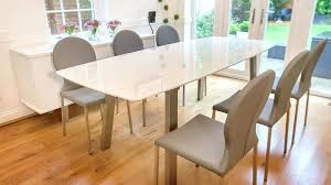 white circle dining table nice white round