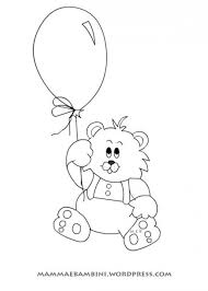Disegni Da Colorare Orso Con Palloncino Mamma E Bambini