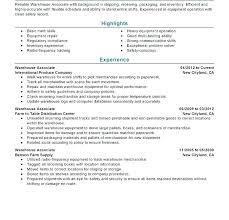 Warehouse Manager Resume Format Entry Level Co Orlandomoving Co