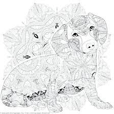 Animal Mandala Coloring Pages To Print 6 Dog Mandalas Free Printable