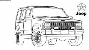 Safari Jeep Coloring Pages Hasshecom