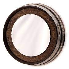 Find square and round mirrors for every space. Barrel End Wall Mirror With Staves O Floinn Decor