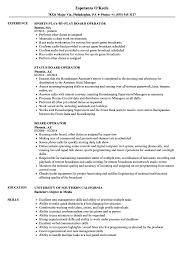 Board Operator Sample Resume Board Operator Resume Samples Velvet Jobs 1