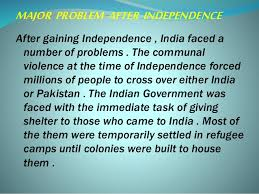 after independence major problem after independence colonies of afterindependence 20