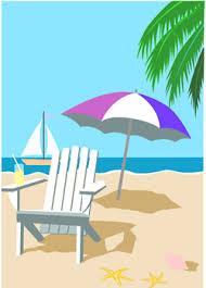 beach umbrella and chair. Wonderful Beach Clip Art Beach Umbrella And Chair Clipart Inside