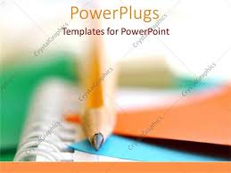College Ppt Templates Powerpoint Template School And College Writing Pencils And