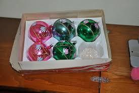 Alter Christbaumschmuck Weihnachtsschmuck 2 Oliven Kugeln