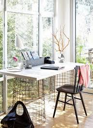 home office computer 4 diy. DIY Working Desk Design For Your Home Office : Computer With Wire Basket Legs 4 Diy K