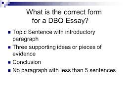 how to write the five paragraph essay ppt video online  what is the correct form for a dbq essay