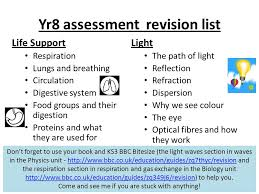 Year 8 Project Homework 3 This term you will have an assessment on ...