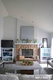 Large Wall Decor Living Room Turning A Curtain Into Large Wall Art O Our House Now A Home