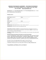Wedding Photographer Contract Template Templates 13613 Resume