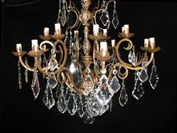 ch96 antique italian cut crystal and carved giltwood 10 light chandelier 3 ch96