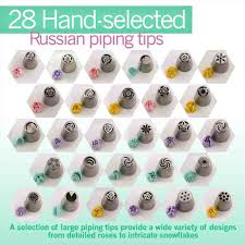 Russian Piping Tips Chart Interesting Piping A Flower Erin Gardner Craftsy Russian