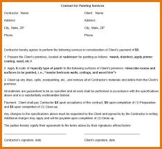 painting contract painting contract free contract for services painting contract template