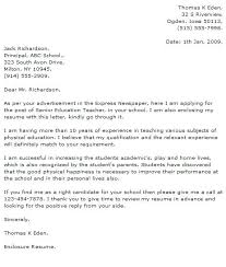 Cover Letter Education Teacher Collection Of Solutions Cover Letter