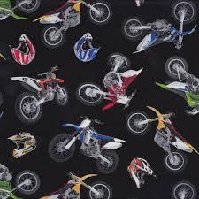 Dirt Bikes Helmets on Black Boys Kids Sport Adventure Quilt Fabric ... & Dirt Bikes Helmets on Black Boys Kids Sport Adventure Quilt Fabric - Find a  Fabric. Adamdwight.com