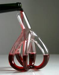 strange wine glasses. Red Wine Decanter And Glasses Reminiscent Of The Circulatory System Awesome Strange