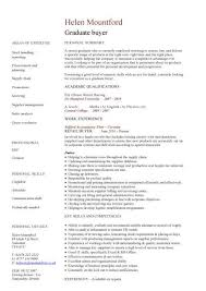 Graduate CV Template Student Jobs Graduate Jobs Career Awesome Assistant Buyer Resume