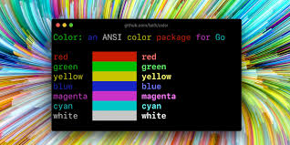 GitHub - fatih/color: Color package for Go (golang)