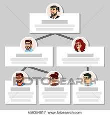 Colleagues Working Flow Chart Vector Employee Avatars Team