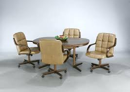 dining room sets with rolling chairs incredible dining room chairs with casters rolling dining room chairs
