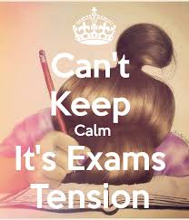 Image result for images on exams tension