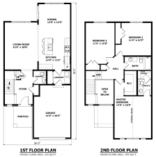 Astonishing Effective Two Story House Plans to Give More Spaces        Architecture Large size Modern Floor Plan First And Second Two Story House Plans Architecture