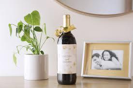 housewarming wine bottle labels