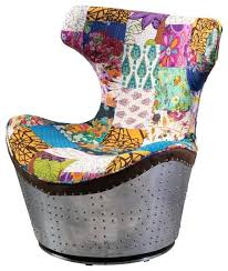 awesome hunter multi colored whimsical patch work fabric swivel colorful accent chair multi color striped accent