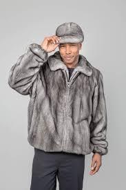 26390 men s blue iris mink zip front jacket