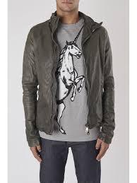 designers giorgio brato dust leather jacket grey for men on