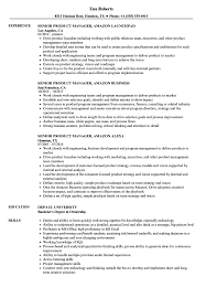 Amazon Resume Example Senior Product Manager Amazon Resume Samples Velvet Jobs 1