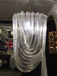 italian murano glass chandelier in the style of venini a round steel frame hold 11