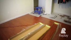 home depot trafficmaster brazilian cherry laminate flooring time lapse install you