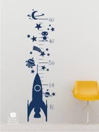 Nursery Rocket Growth Chart Wall Decal Vinyl Wall Art