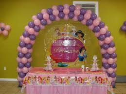 Princess Party Decoration Themed Princess Party Decor Is A Spring Lilac And Light Pink