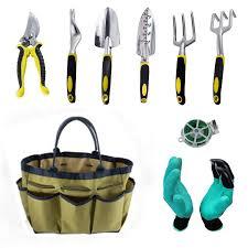get ations ohrex 9pcs gardening tool set for digging planting gardening kit garden tote garden gloves ergonomic