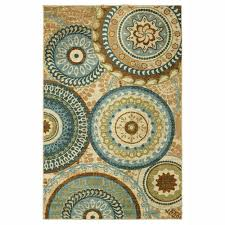 mohawk home reg dazzle medallions multicolored area rug