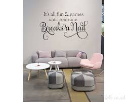 nail salon wall decal it s all fun