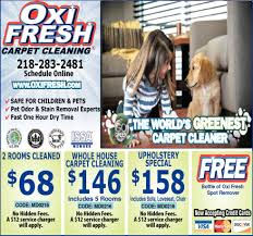 carpet cleaning flyer worlds greenest carpet cleaner oxi fresh carpet cleaning