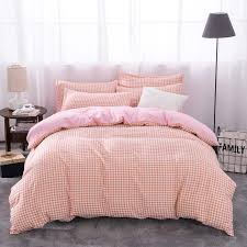 high quality luxury soft comfortable pink stripes 3 bedding sets single double bed duvet cover flat sheet pillowcases girls comforter sets erfly bedding