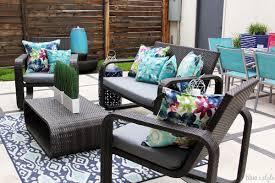 diy with style} The No Sew Way to Reupholster Outdoor Cushions